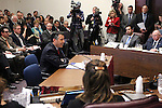 Nevada Gov. Brian Sandoval presents his proposed business license fee plan to lawmakers at the Legislative Building in Carson City, Nev., on Wednesday, March 18, 2015. Sandoval's proposal is projected to raise $250 million a year for public education.   <br /> Photo by Cathleen Allison