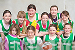 The Ballydonoghue team that played in the girls basketball community games in Castleisland Community Centre on Saturday front row l-r: Edel Joy, Charlotte O'Neill, Margaret O'Connor, Siobhain Donnegan. Back row: Aoife Behan, Elaine McCarthy, Laura Murphy, Muireann Kissane, Marie O'Connor and Amy Joy..   Copyright Kerry's Eye 2008