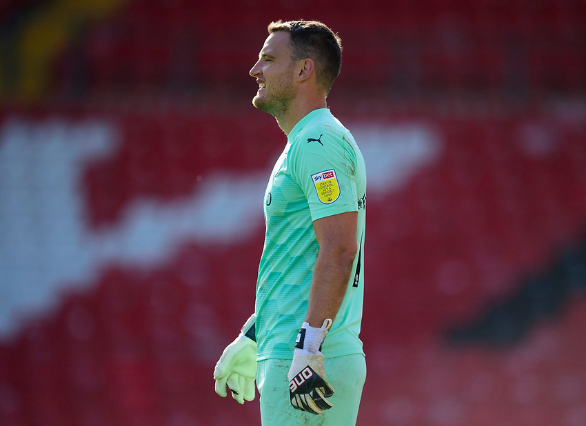 Oxford United's Simon Eastwood<br /> <br /> Photographer Andrew Vaughan/CameraSport<br /> <br /> The EFL Sky Bet League One - Saturday 12th September  2020 - Lincoln City v Oxford United - LNER Stadium - Lincoln<br /> <br /> World Copyright © 2020 CameraSport. All rights reserved. 43 Linden Ave. Countesthorpe. Leicester. England. LE8 5PG - Tel: +44 (0) 116 277 4147 - admin@camerasport.com - www.camerasport.com - Lincoln City v Oxford United