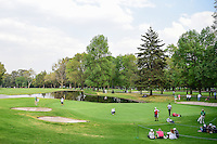 A wide shot of the 6th green during round 2 of the World Golf Championships, Mexico, Club De Golf Chapultepec, Mexico City, Mexico. 3/3/2017.<br /> Picture: Golffile | Ken Murray<br /> <br /> <br /> All photo usage must carry mandatory copyright credit (&copy; Golffile | Ken Murray)