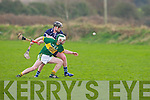 Kerry's Daniel Collins and IT Tralee's Jack Walsh in action in the Waterford Crystal Cup at Abbeydorney on Sunday...
