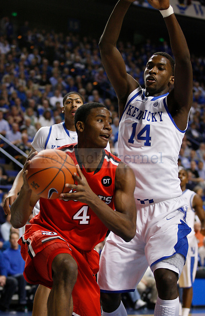 Michael Kidd-Gilchrist guards Moe Harkless in the first half of the game against St. Johns University at Rupp Arena, in Lexington, Ky., on Thursday, Dec. 1, 2011. Photo by Latara Appleby | Staff ..