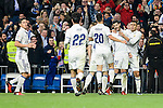 "Real Madrid  James Rodriguez, Francisco Roman ""Isco"", Marco Asensio, Alvaro Morata during La Liga match between Real Madrid and Deportivo de la Coruña at Santiago Bernabeu Stadium in Madrid, Spain. December 10, 2016. (ALTERPHOTOS/BorjaB.Hojas)"