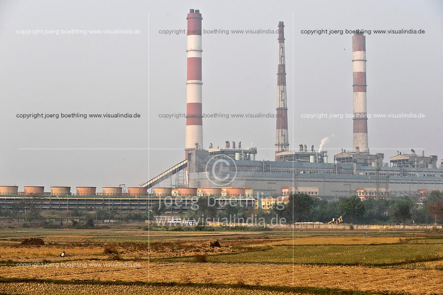 "Südasien Asien Indien IND Westbengalen, Kohlekraftwerk erzeugt Strom mit Kohle aus Bihar und Jharkand. -  Energie | .South Asia India Westbengal, coal power house - energy .| [ copyright (c) Joerg Boethling / agenda , Veroeffentlichung nur gegen Honorar und Belegexemplar an / publication only with royalties and copy to:  agenda PG   Rothestr. 66   Germany D-22765 Hamburg   ph. ++49 40 391 907 14   e-mail: boethling@agenda-fototext.de   www.agenda-fototext.de   Bank: Hamburger Sparkasse  BLZ 200 505 50  Kto. 1281 120 178   IBAN: DE96 2005 0550 1281 1201 78   BIC: ""HASPDEHH"" ,  WEITERE MOTIVE ZU DIESEM THEMA SIND VORHANDEN!! MORE PICTURES ON THIS SUBJECT AVAILABLE!! INDIA PHOTO ARCHIVE: http://www.visualindia.net ] [#0,26,121#]"