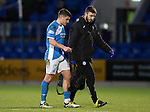 St Johnstone v Motherwell&hellip;17.12.16     McDiarmid Park    SPFL<br />Michael Coulson limps off with physio Tony Tompos<br />Picture by Graeme Hart.<br />Copyright Perthshire Picture Agency<br />Tel: 01738 623350  Mobile: 07990 594431