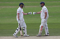 Daniel Lawrence (L) and Nick Browne of Essex enjoy a useful partnership during Nottinghamshire CCC vs Essex CCC, Specsavers County Championship Division 1 Cricket at Trent Bridge on 1st July 2019