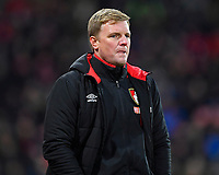 AFC Bournemouth Manager Eddie Howe looks on anxiously as his side is 2-1 down with 17 mins to play during AFC Bournemouth vs Wigan Athletic, Emirates FA Cup Football at the Vitality Stadium on 6th January 2018