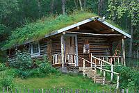 Historic Robert Service cabin, Dawson, Yukon Territory, Canada