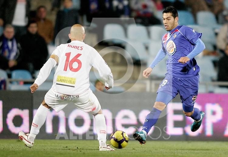 Getafe's Miku during Kings Cup match. January 28, 2010. (ALTERPHOTOS/Alvaro Hernandez).