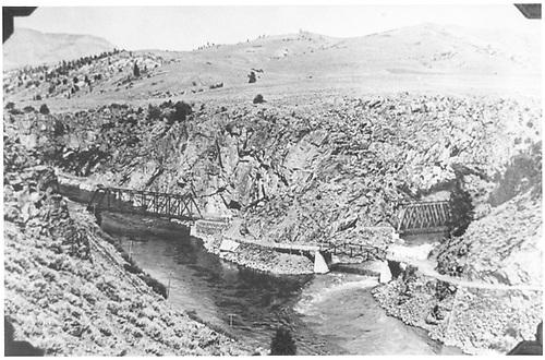 4 bridges at Sapinero / Lake City Junction.<br /> D&amp;RGW  Sapinero Switch, CO  Taken by McLeod, Hugh