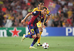 17.09.2014 Barcelona, Spain. Champions League Groups. Picture show Sandro Ramirez in action during game beteween FC Barcelona against Apoel at Camp Nou