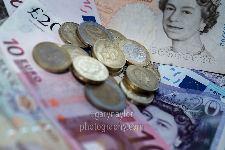 Euro & sterling cash