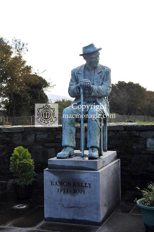 The Eamonn Kelly Seannachai monument in Gneeveguilla in County Kerry photographed in 2012..Picture by Don MacMonagle