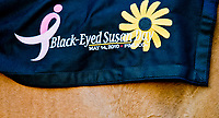 BALTIMORE, MD - MAY 19: Remnants of Black-Eyed Susans past with the saddle cloth of an outrider at the track on Black-Eyed Susan Day at Pimlico Race Course on May 19, 2017 in Baltimore, Maryland.(Photo by Scott Serio/Eclipse Sportswire/Getty Images)
