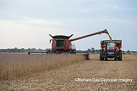 63801-07214 Soybean harvest with Case IH combine in Marion Co. IL