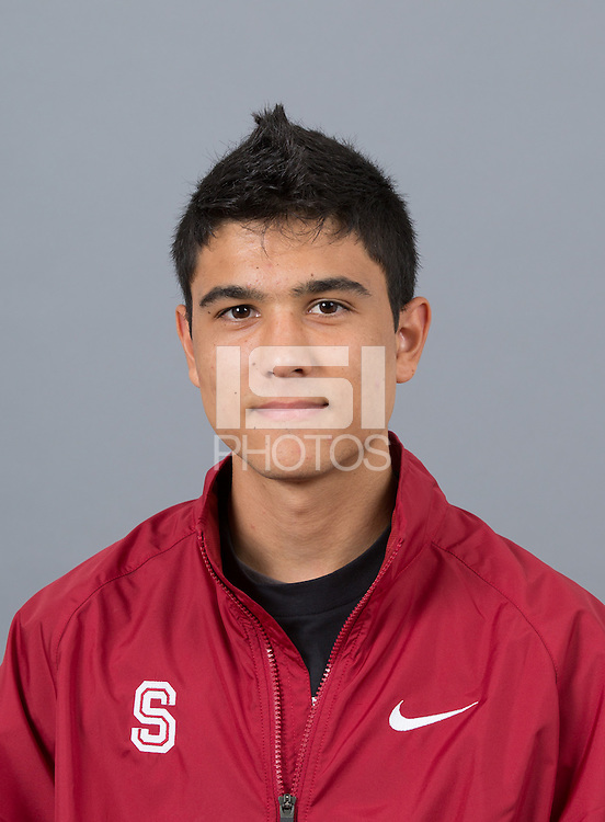 STANFORD, CA - SEPTEMBER 24, 2014--Ryan Silva, with Stanford University Cross Country Team