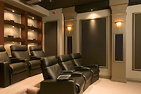 Private Theater With Sconces Lighting
