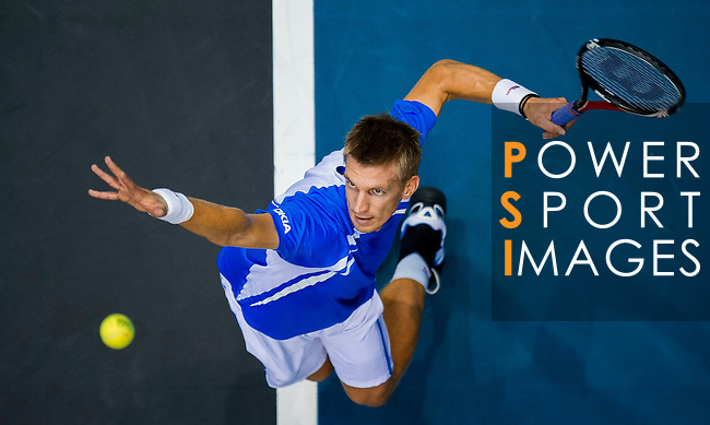 Jarkko Nieminen of Finland in action during the Day 9 of the PTT Thailand Open at Impact Arena on October 3, 2010 in Bangkok, Thailand. Photo by Victor Fraile / The Power of Sport Images