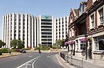 Barclays House, Barclays bank International Office, Poole, Dorset, England, UK  architects Wilson Mason Partners,  1976