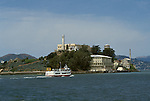 CA: Alcatraz, California, lighthouse, San Francisco Bay, 2005 .Image: caalcatraz104..Photo Copyright: Lee Foster, lee@fostertravel.com, www.fostertravel.com, (510) 549-2202.