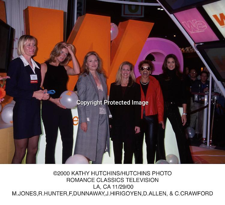 ©2000 KATHY HUTCHINS/HUTCHINS PHOTO.ROMANCE CLASSICS TELEVISION. LA, CA 11/29/00.M.JONES,R.HUNTER,F,DUNNAWAY,J.HIRIGOYEN,D.ALLEN, & C.CRAWFORD