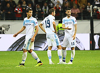 Frust bei Lazio Rom - 04.10.2018: Eintracht Frankfurt vs. Lazio Rom, UEFA Europa League 2. Spieltag, Commerzbank Arena, DISCLAIMER: DFL regulations prohibit any use of photographs as image sequences and/or quasi-video.