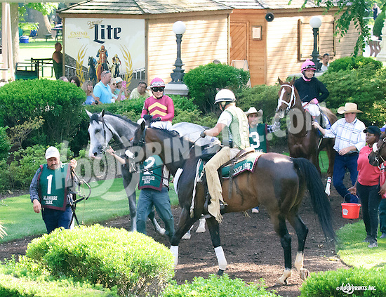 traffic jam before The Obeah Stakes at Delaware Park on 6/11/16