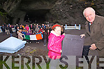Minister Jimmy Deenihan pictured here at Valentia Slate Quarry with Orla O'Shea, on Monday last at the unveiling of a Slate Plaque engraved with the 1916 Proclamation, it is hoped that one of these plaques will be erected in every school in the country for the 1916 Centenary Commemoration...