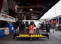 Jun 9, 2019; Topeka, KS, USA; NHRA top fuel driver Brittany Force during the Heartland Nationals at Heartland Motorsports Park. Mandatory Credit: Mark J. Rebilas-USA TODAY Sports