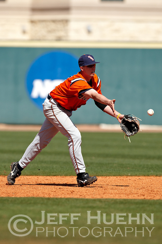 SAN ANTONIO, TX - FEBRUARY 21, 2010: The Houston Baptist University Huskies vs. the University of Texas at San Antonio Roadrunners Baseball at Roadrunner Field. (Photo by Jeff Huehn)