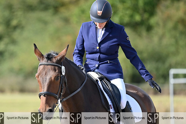 Stapleford Abbotts. United Kingdom. 05 October 2019. Class 6. Unaffiliated dressage championships. Brook Farm training centre. Essex. UK.~ 05/10/2019.  MANDATORY Credit Garry Bowden/SIPPA - NO UNAUTHORISED USE - 07837 394578