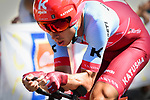 The Panzer Wagon Tony Martin (GER) Team Katusha Alpecin in action during Stage 3 of the 2018 Tour de France a Team Time Trial running 35.5km from Cholet to Cholet (35,5km, France. 9th July 2018. <br /> Picture: ASO/Pauline Ballet | Cyclefile<br /> All photos usage must carry mandatory copyright credit (&copy; Cyclefile | ASO/Pauline Ballet)