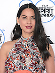 Olivia Munn attends 2015 Film Independent Spirit Awards held at Santa Monica Beach in Santa Monica, California on February 21,2015                                                                               © 2015Hollywood Press Agency
