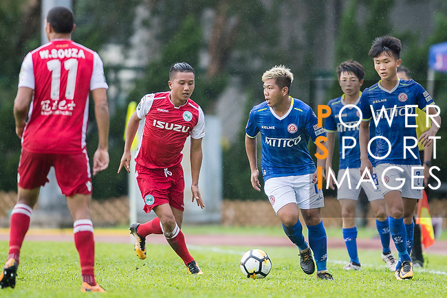 Cheuk Hin Lau of Rangers (R) in action during the Premier League, week two match between Kwoon Chung Southern and BC Rangers at on September 09, 2017 in Hong Kong, China. Photo by Marcio Rodrigo Machado / Power Sport Images