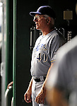 22 August 2009: Milwaukee Brewers' Manager Ken Macha watches from the dugout during a game against the Washington Nationals at Nationals Park in Washington, DC. The Brewers defeated the Nationals 11-9 in the second game of their four-game series. Mandatory Credit: Ed Wolfstein Photo