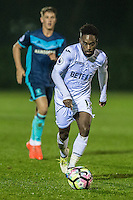 Nathan Dyer of Swansea City in action Monday  19 December 2014<br /> Pictured: <br /> Re: Swansea City U23 v Middlesbrough u23 at the Landore Training Facility, Swansea, Wales, UK