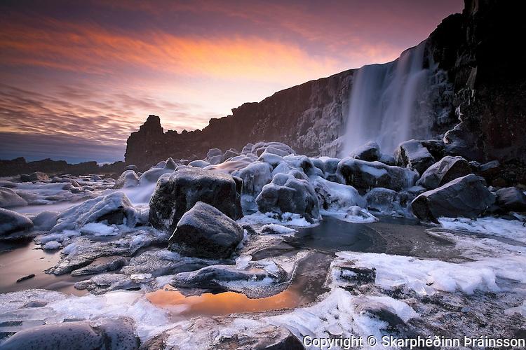 Öxarárfoss in Þingvellir National Park, south-west Iceland