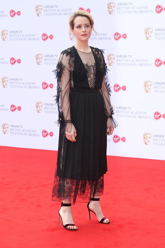 Claire Foy<br />  arriving at the Bafta Tv awards 2017. Royal Festival Hall,London  <br /> ©Ash Knotek