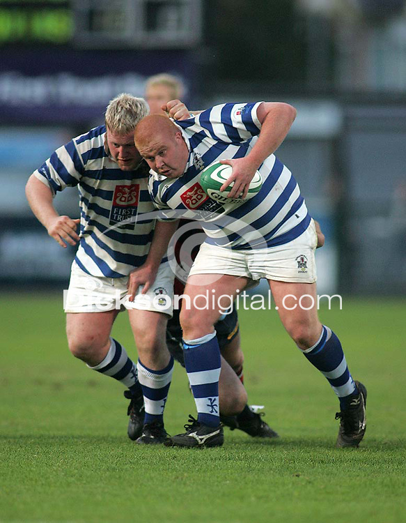 Dungannon loose head Mark Neilly sets up another attack during the First Trust Senior Cup Final at Ravenhill. Result - Dungannon 27pts Harlequins 10pts.