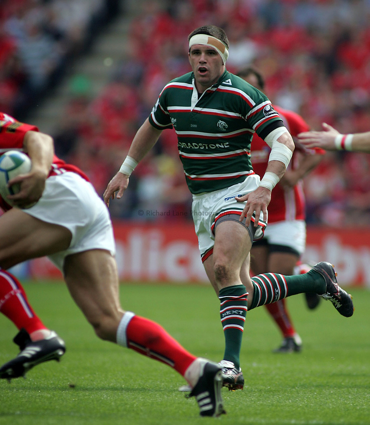 Photo: Paul Thomas..Leicester Tigers v Llanelli Scarlets. Heineken Cup, Semi Final. 21/04/2007...Shane Jennings of Leicester.