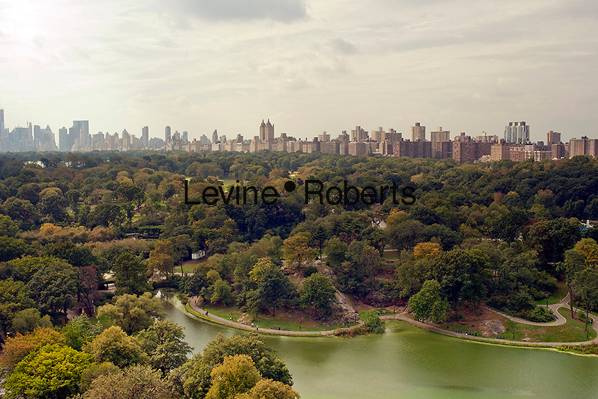 The northern end of Central Park including the Harlem Meer is seen from an apartment on Fifth Avenue in Harlem on Saturday, October 6, 2012 . (© Richard B. Levine)