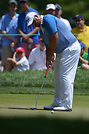 Bethesda, MD - June 28, 2014: Brendon de Jonge putts on hole 6 in Round 3 of the Quicken Loans National at the Congressional Country Club in Bethesda, MD, June 28, 2014.  (Photo by Don Baxter/Media Images International)
