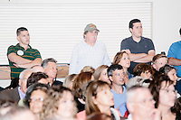 People listen as Republican presidential candidate Dr. Ben Carson speaks at a town hall campaign stop at a meeting of the Windham Republican Town Committee at the Castleton Banquet and Conference Center in Windham, New Hampshire.