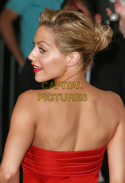"""BRITTANY MURPHY.""""Talladega Nights: The Ballad of Ricky Bobby"""" Los Angeles Premiere held at Mann's Grauman Chinese Theater, Hollywood, California, USA..July 26th, 2006.Photo: Charles Harris/AdMedia/Capital Pictures.Ref: CH/ADM.headshot portrait strapless profile red.www.capitalpictures.com.sales@capitalpictures.com.©AdMedia/Capital Pictures."""