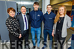 Breda O'Dwyer, Pat Carmody, David Clifford, Shane Enright and Laura Collins attending the BoI Friday Breakfast Club International Women's Day at the Bank Of Ireland in Tralee on Friday.