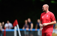 Lincoln United manager Sam Wilkinson during the pre-match warm-up <br /> <br /> Photographer Chris Vaughan/CameraSport<br /> <br /> Football - Pre-Season Friendly - Lincoln United v Lincoln City - Saturday 8th July 2017 - Sun Hat Villas Stadium - Lincoln<br /> <br /> World Copyright &copy; 2017 CameraSport. All rights reserved. 43 Linden Ave. Countesthorpe. Leicester. England. LE8 5PG - Tel: +44 (0) 116 277 4147 - admin@camerasport.com - www.camerasport.com