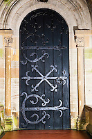Door of All Saints Church in Church Lench, Worcestershire, United Kingdom