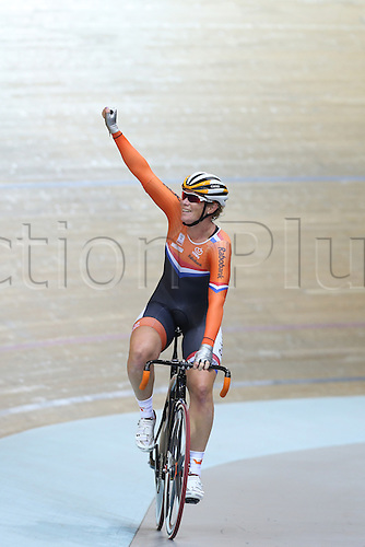 21.10.2016. Saint Quentin-en-Yvelines. Paris. UEC Track Elite European Championship.  WILD Kirsten NED gold medal winner of womens points race
