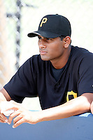 """July 13, 2009:  Pitcher Rinku Singh of the GCL Pirates during a game at Tiger Town in Lakeland, FL.  Singh along with Dinesh Patel were signed out of India through the contest """"The Million Dollar Arm"""".  The GCL Pirates are the Gulf Coast Rookie League affiliate of the Pittsburgh Pirates.  Photo By Mike Janes/Four Seam Images"""