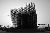 Bridge Support Construction In Chongqing, China.  © LAN